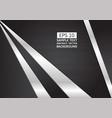 metallic silver and black matt geometric abstract vector image vector image
