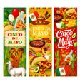mexican flag cinco de mayo food and fiesta symbols vector image vector image