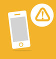 Mobile and warning icon vector image vector image
