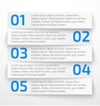 Modern white infographic business options banner vector image vector image