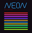 neon brush set vector image vector image