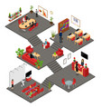 office interior with furniture concept 3d vector image vector image