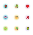 Patronage icons set pop-art style vector image vector image