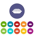 Pie set icons vector image vector image
