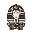 portrait of pharaoh africa egypt egyptian logo vector image
