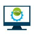 programming language vector image