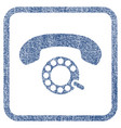 pulse dialing fabric textured icon vector image