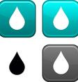 Rain button vector image vector image
