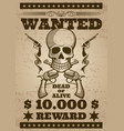 Retro wanted poster in wild west thematic