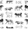 seamless background sketches various walking vector image