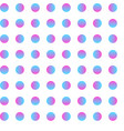 seamless circle pattern gradient dot art vector image vector image