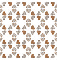 seamless pattern with heart vector image vector image