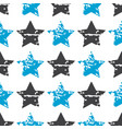 seamless star pattern modern stylish vector image vector image