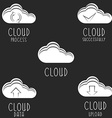 set cloud icons download data network app vector image
