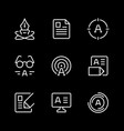set line icons copywriting vector image