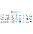 set of abstract geometric symbols vector image