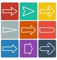 Set of colorful flat arrows vector image