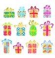 Set of holiday presents vector image vector image