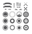 Set of logotype element for mechanic garage car vector image