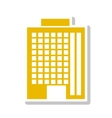 silhouette colorful with office building in yellow vector image vector image