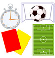 soccer football game cartoon icon 4 element set vector image vector image