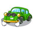 super cool miniature classic car in shape vector image