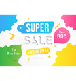 super sale banner template design with decorative vector image vector image