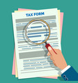 tax form audit vector image