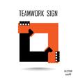 teamwork sign vector image vector image