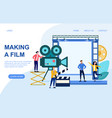web page template for movie creation vector image