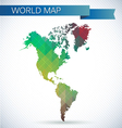 Western Hemisphere globe Bright map vector image vector image
