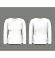 Womens white sweatshirt long sleeve vector image
