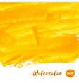 yellow golden watercolor texture vector image