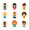 avatars set vector image