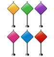 A group of diamond signboards vector image