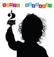 child birthday silhouette vector image