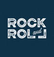 rock and roll t-shirt and apparel design with with vector image