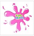 Pink Splash on white background eps10 vector image