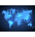 Pixel World Map with Spot Lights vector image