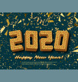 2020 jigsaw puzzle background with many golden vector image