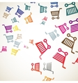 abstract background trolley vector image vector image