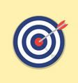 abstract target flat design icon vector image vector image