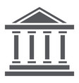 bank building glyph icon architecture and column vector image