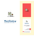beach creative logo and business card vertical vector image vector image