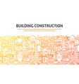 building construction concept vector image