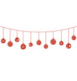 christmas balls decorations hanging vector image vector image