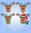christmas theme greeting card 6 vector image vector image
