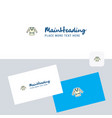coat logotype with business card template elegant vector image