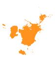 Color blot vector image vector image