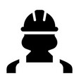 construction worker icon - person profile avatar vector image